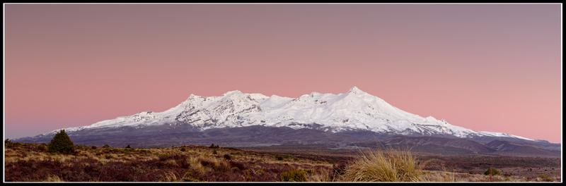 Alpenglow at Mount Ruapehu.